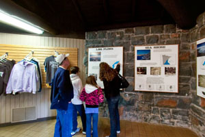 Photo of the interior of the interpretive center.