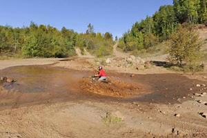 Photo of the Mud Run Area, open to all types of off-highway rehicles willing to give it a try.