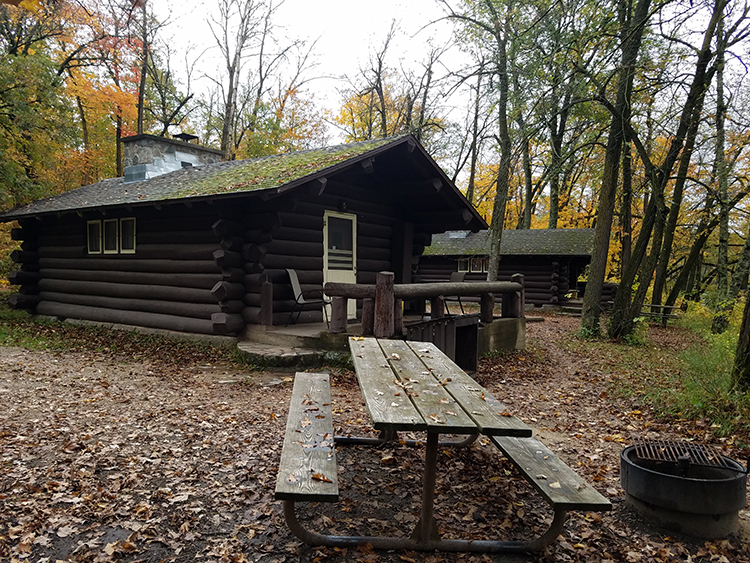 Photo of one of the one-room Bear Paw cabins.