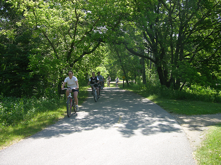 Photo of the paved bike trail.