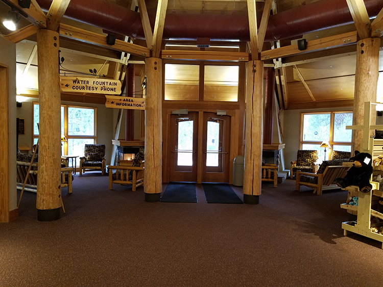 Photo of the entry into the Brower Visitor Center.