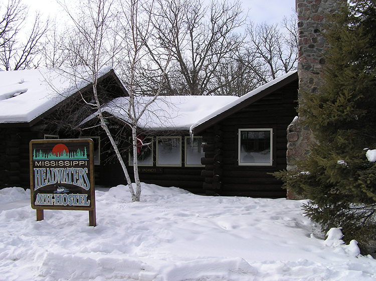Photo of the Mississippi Headwaters Hostel, open year-round.