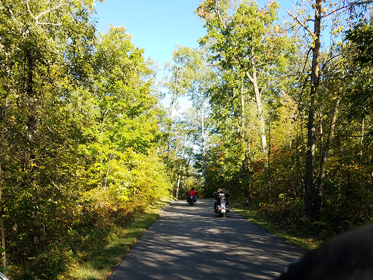Photo of a segment of the scenic Wilderness Drive Loop.