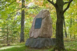 Photo of granite Oldenburg Memorial.