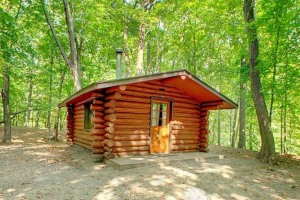 Photo of a rustic camber cabin, available for lodging year-round.
