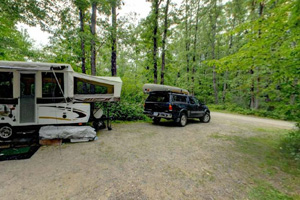 Photo of campers using the Petaga Campground.