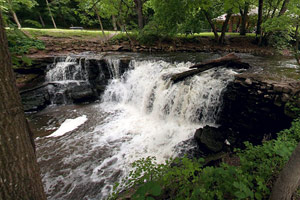 Photo of the Upper Waterfall is the smaller of the park's two falls.