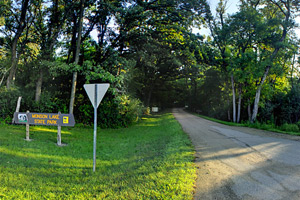 Photo of the entrance to Monson Lake State Park.
