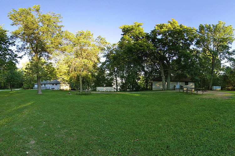 Photo of the group center grounds near Lake Albert Lea.