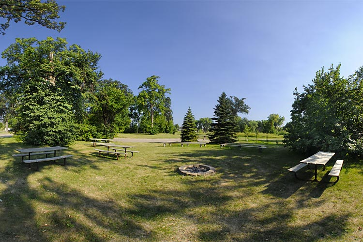 Photo of the group camp which is designed to host special events or large groups who wish to camp together.