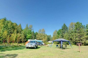 Photo of campers using the Schoolcraft campground.