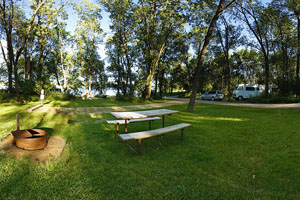 Photo showing camping facilities and grounds available at the campground.