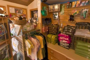 Photo of the gift shop located within the park office.
