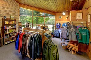 Photo of park the Nature Store offering snacks, camping supplies and souvenirs.
