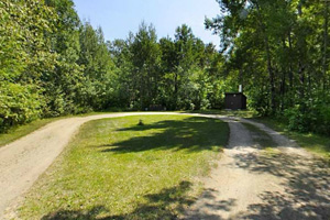 Photo of the Lady's-Slipper Campground loop which offers non-electric campsites interspersed with shade trees.