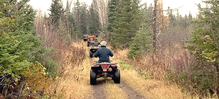 OHV riders on the C.J. Ramstad/North Shore State Trail