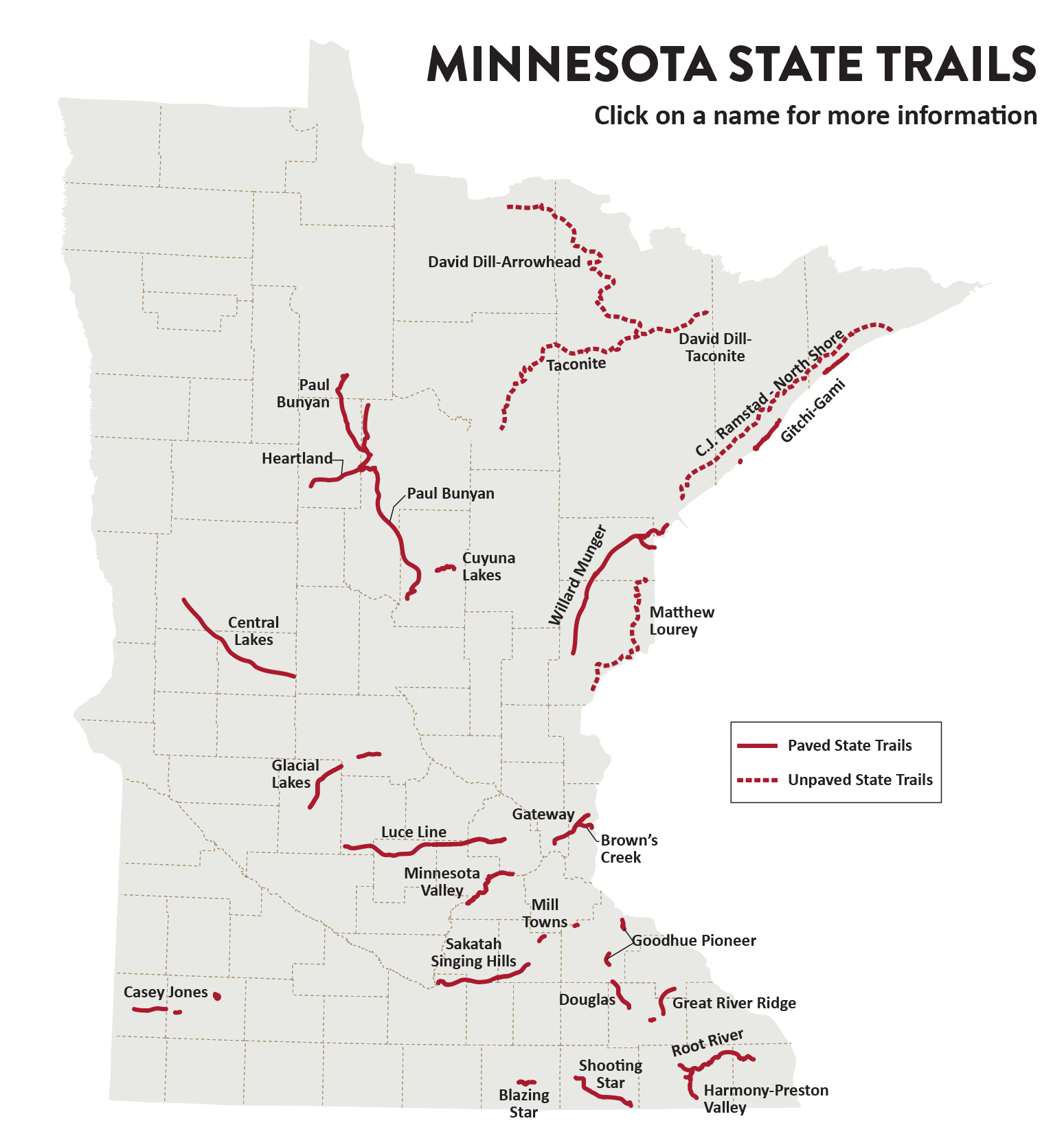 location of state trails in minnesota