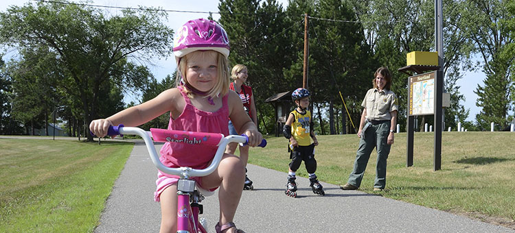 Trail users on a Minnesota State Trail