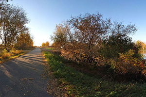 Photo of the section of trail passing through Ashby, Minnesota.