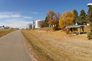 Photo of farmland near the city of Brandon.