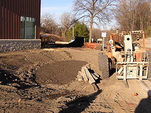 Installation of a bioinfiltration basin. Photo: Ramsey Washington Metro Conservation District.