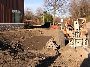 Installation of a bioinfiltration basin. Photo: Ramsey Washington Metro Conservation District.