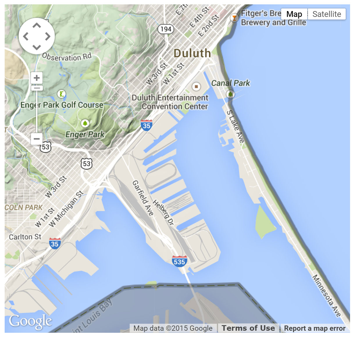 Rice's Point Access location map