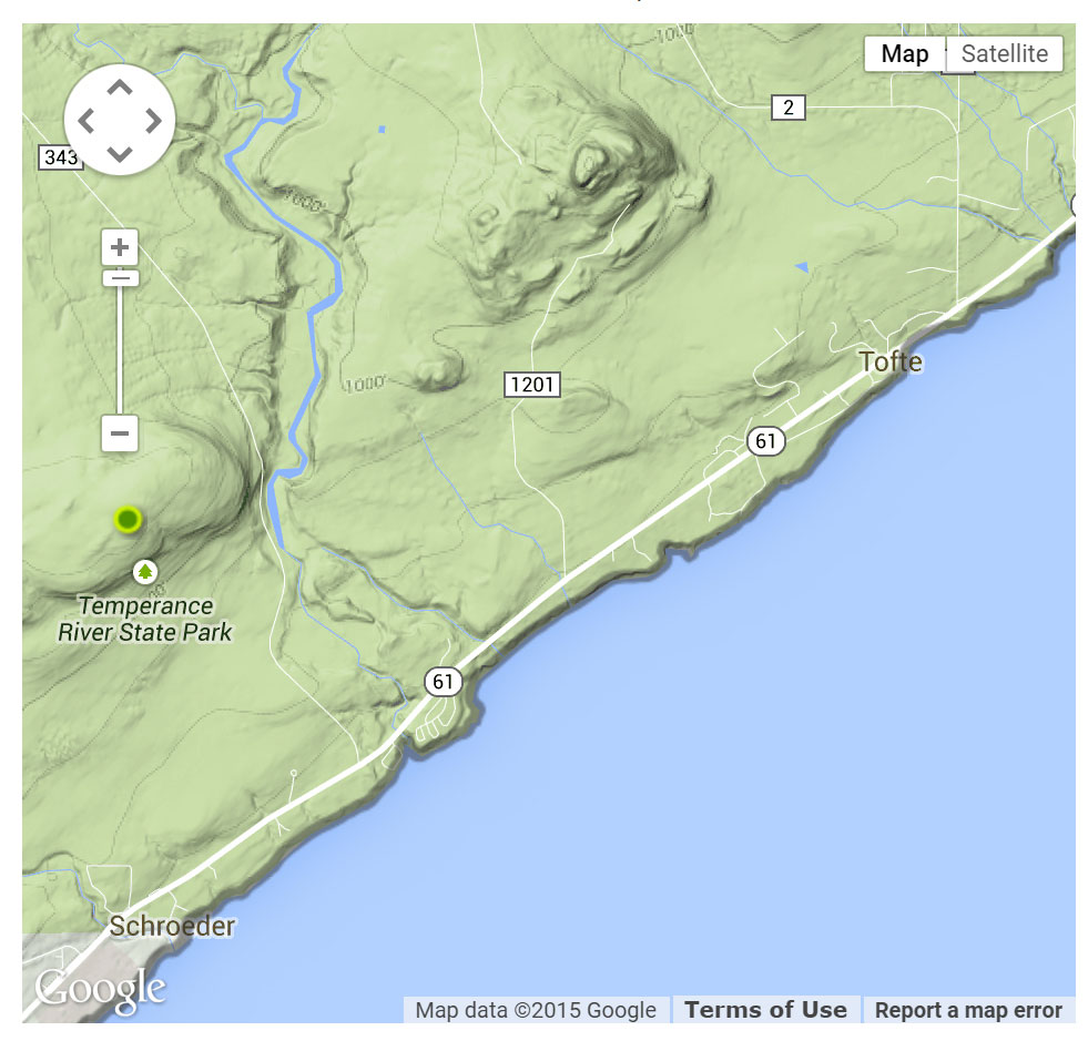 Tofte Access location map