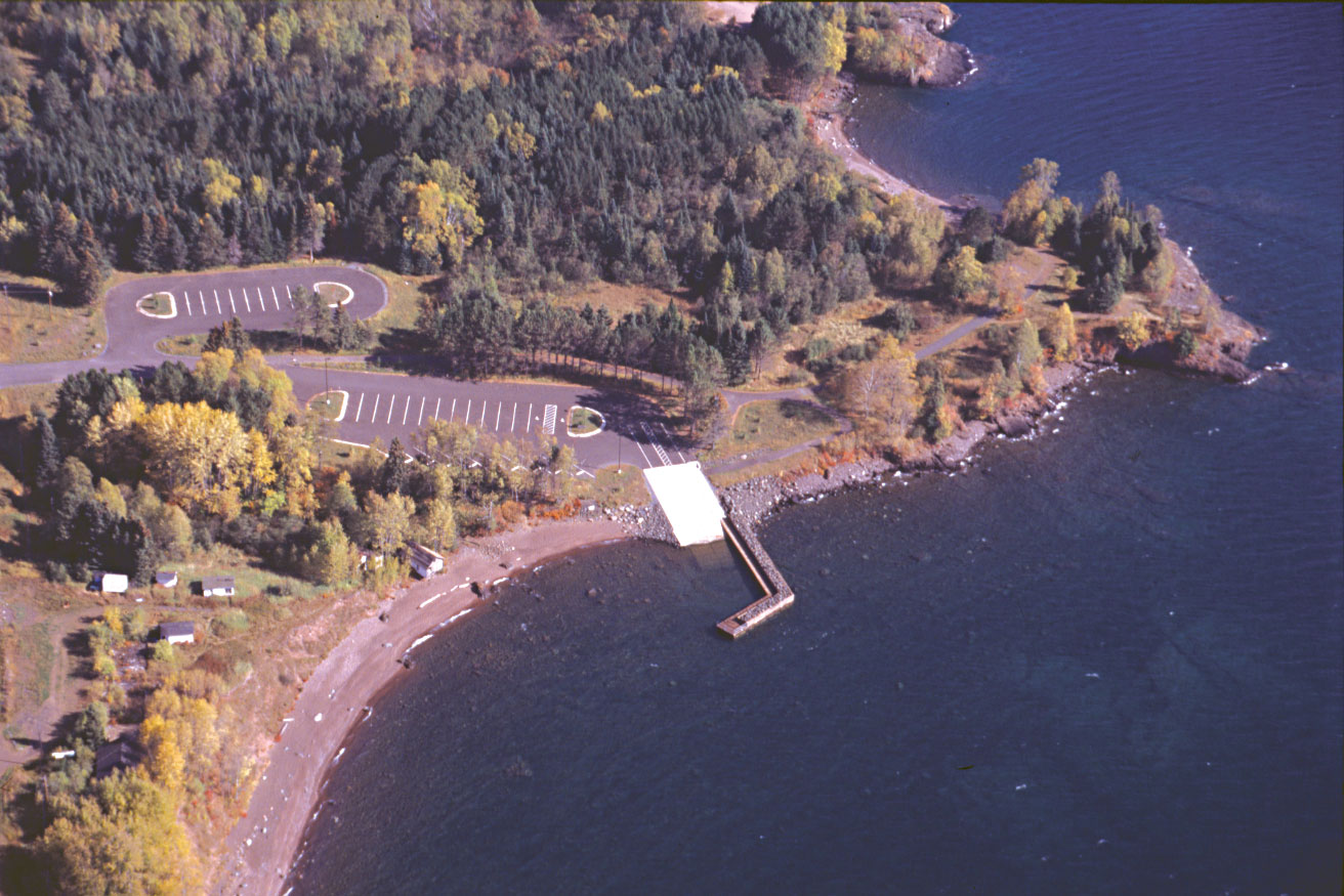 A view by air of theTwin Points Protected Access site developed by the Minnesota Department of Natural Resources.