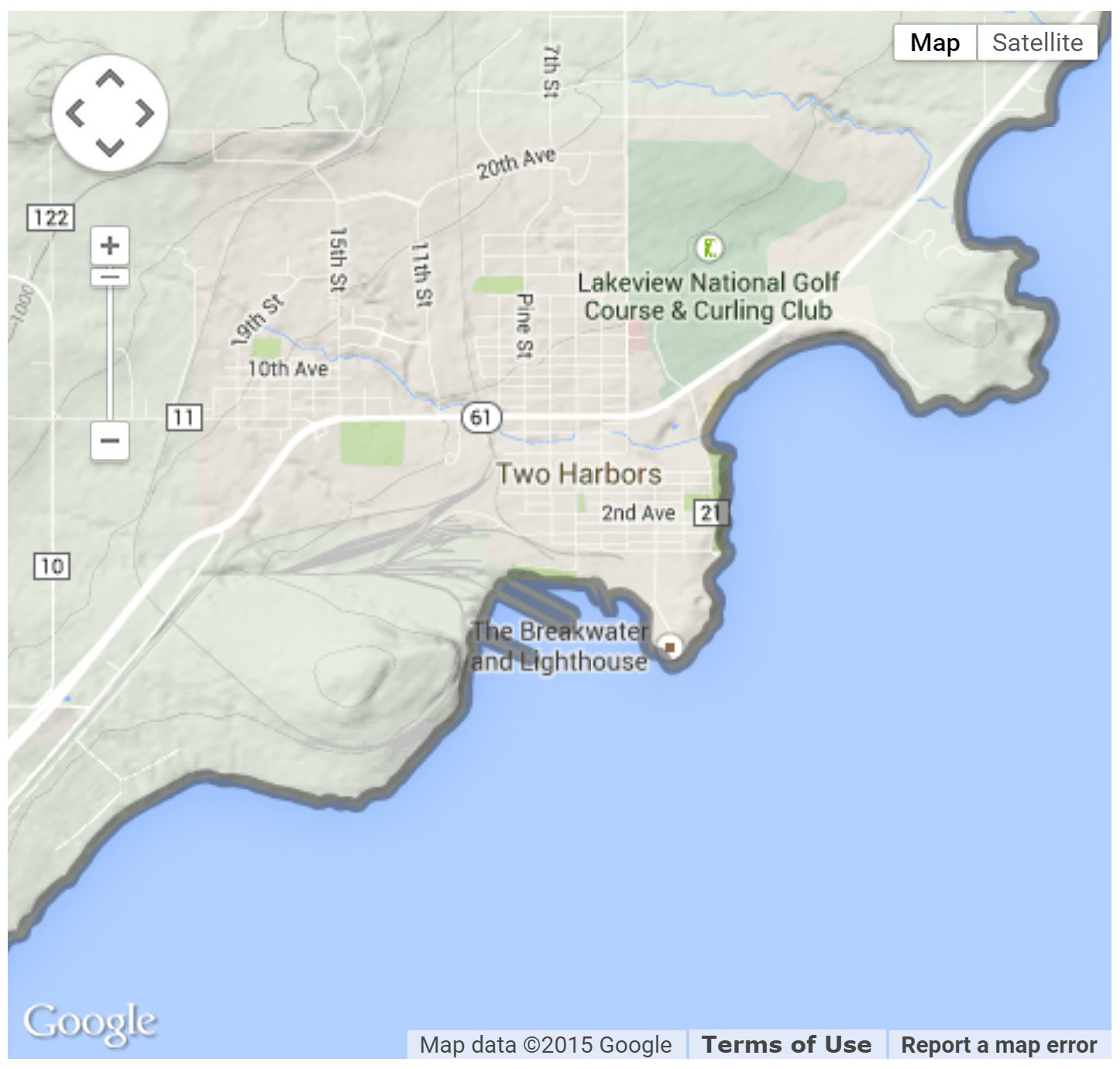 Two Harbors Protected Access location map