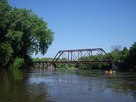 Railroad bridge at Morton