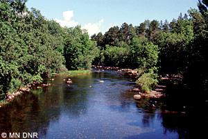 Pine River at county road 36