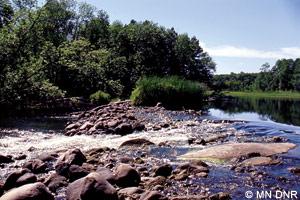 Pine River rock dam