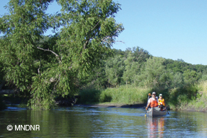 Paddling on the South Fork of the Crow River