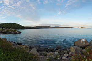 Photo of a view from the Tribal Marina on Grand Portage Bay, within the Grand Portage Indian Reservation.