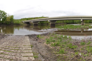 Photo of the river access located at Highway 4 Landing.