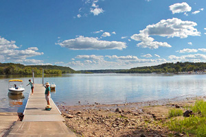 Photo of the popular area for watercraft to put in on their way to the Stillwater Islands and lower St. Croix River.