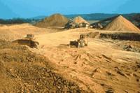 Quarry site featuring equipment.