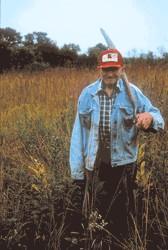a landowner on his prairie.