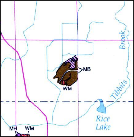 map of sugarbush Preserve in Sherburne County, Minnesota