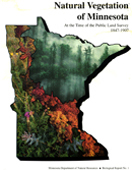 cover of pamphlet Natural Vegetation of Minnsota at the Time of the Public Land Survey