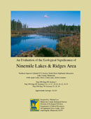 Cover of report: Evaluation of the Ecological Significance of Ninemile Lakes & Ridges Area.