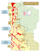 map of prairie technical teams