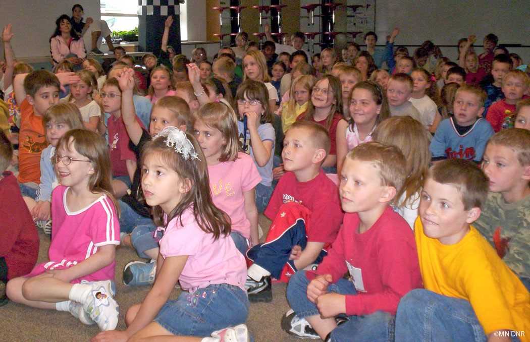 Youth audience listening to a story