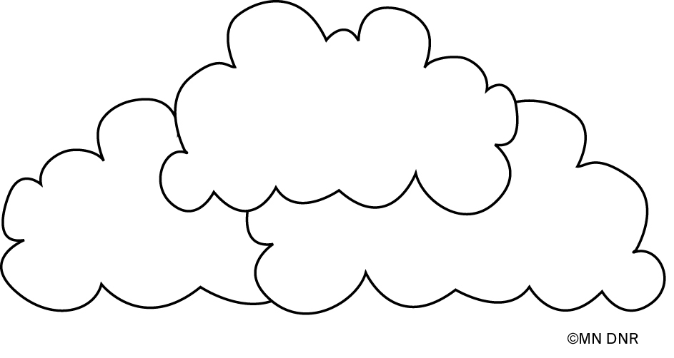 Clouds outline from Lesson 3:1 - Incredible Journey