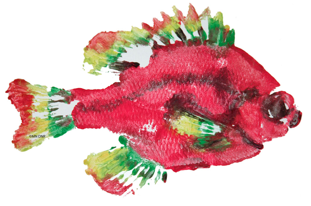 Gyotaku Fish Print from Lesson 2:1 - Fish Sense