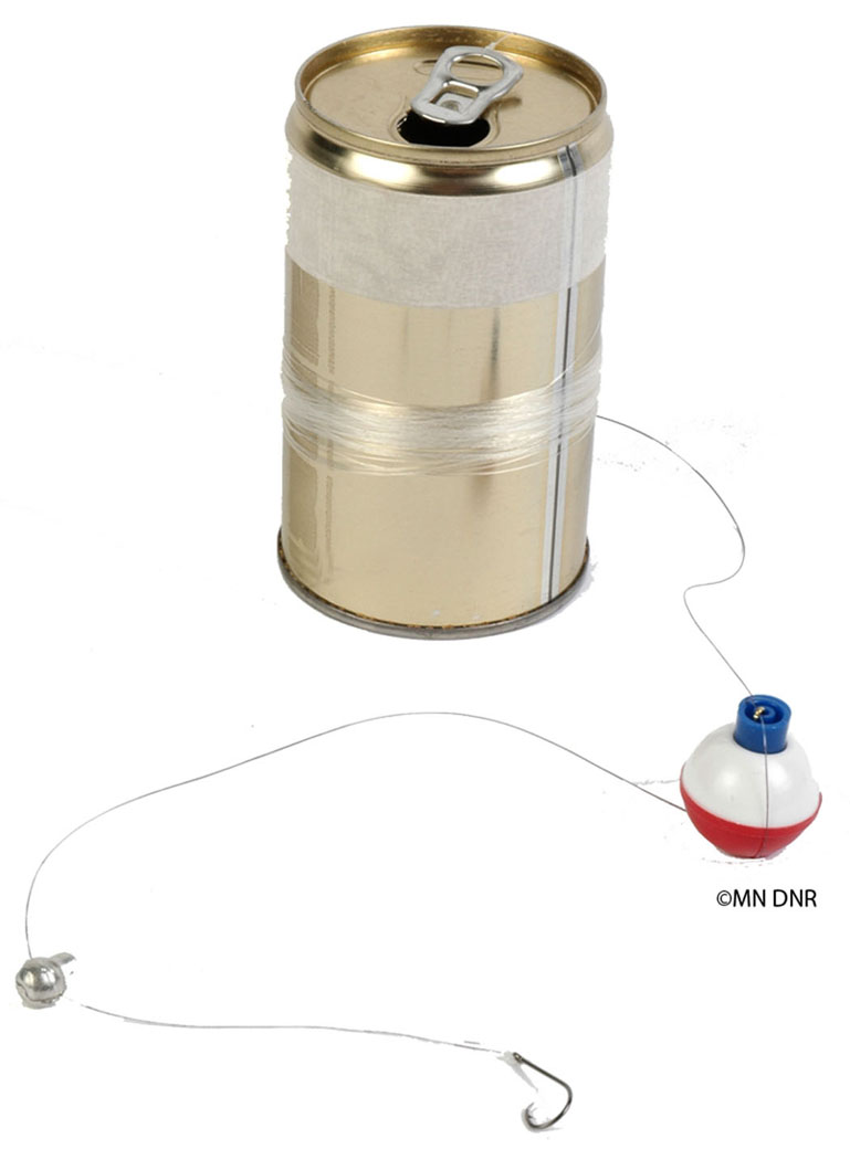 Pop can fishing rig