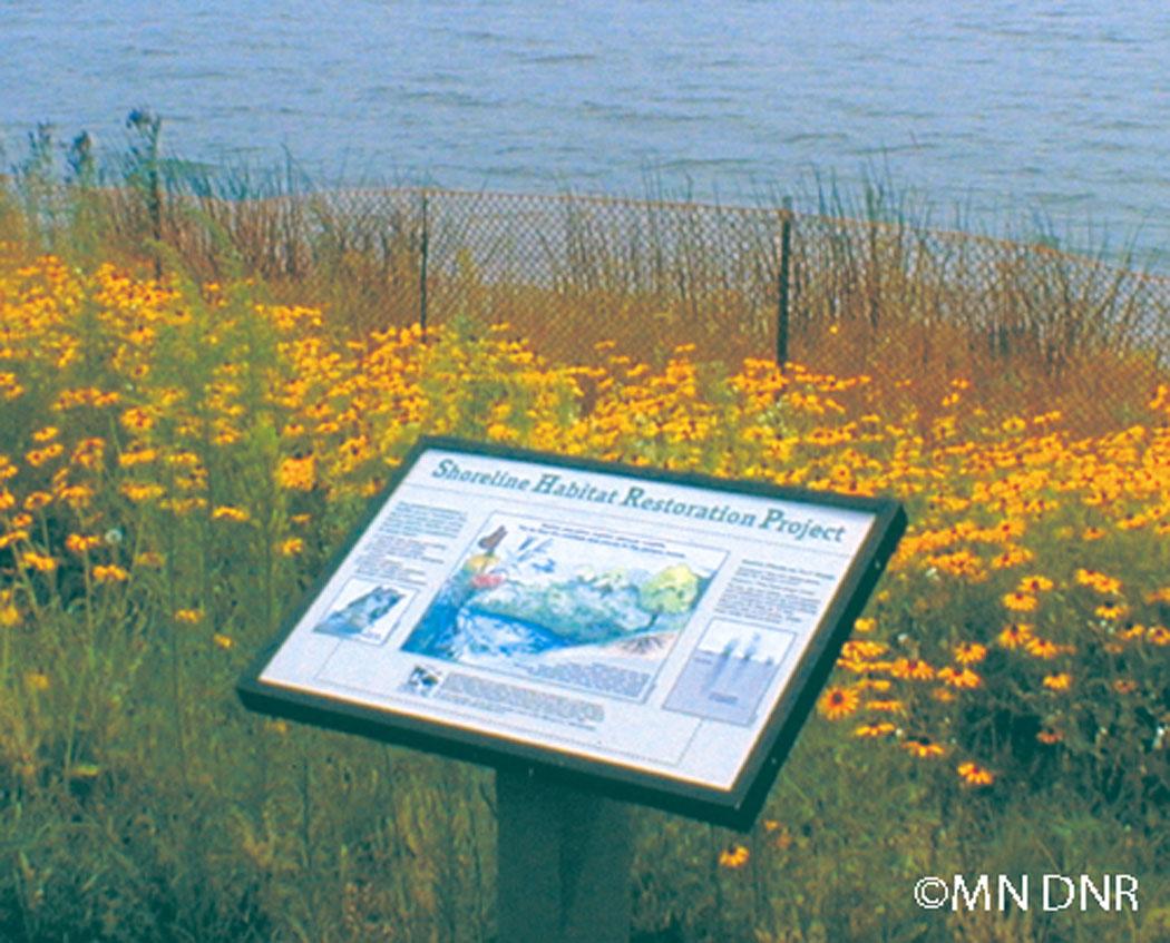 Shoreline Restoration Sign