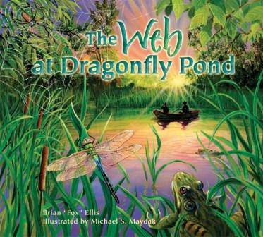 Web Dragonfly Pond Cover