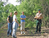 photograph of School Forest and DNR foresters